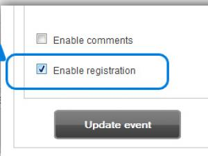 Step1 - RSEvents!Pro - enable registration