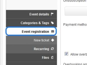 Step 2 - Event registration