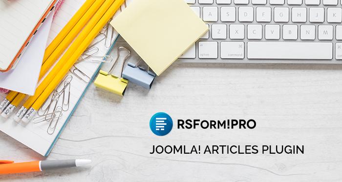 RSForm!Pro Create Joomla! Articles plugin