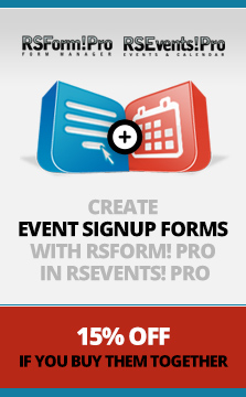 Create event sign-up forms with RSForm! Pro in RSEvents! Pro
