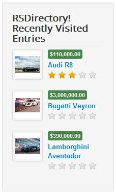 Recently Visited Entries module