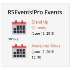 RSEvents!Pro Events Module