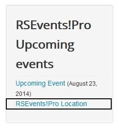 Upcoming Events Module Template Override - Show Event Location