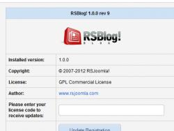 The RSBlog! Dashboard