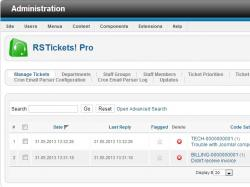 Manage tickets tab