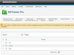 Ticket priorities