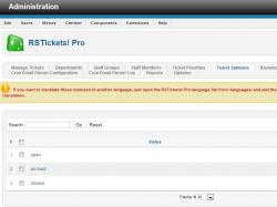 Ticket statuses tab