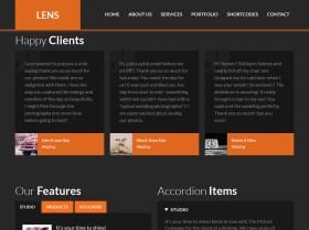 Page Example - Orange Theme
