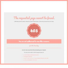 Error Page - Salmon Inverted Theme