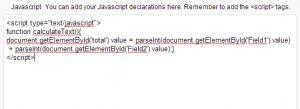 Javascript tab