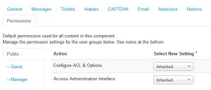 Configuration - Permissions