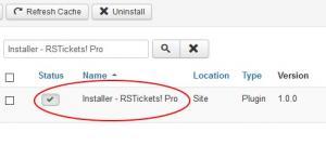 Installer - RSTickets! Pro