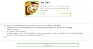 Horizontal Image (Image, title, text, price, button) - Preview and Shortcode