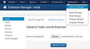 Installing the Joomla! Search integration plugin
