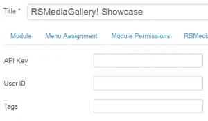 Showcase Module Backend Flickr