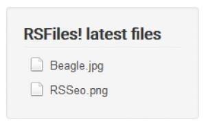 RSFiles! Latest Files Module Frontend