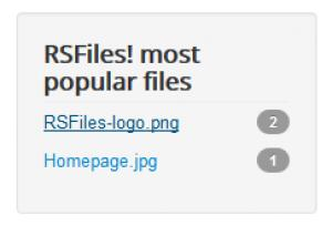 RSFiles! Most Popular Files Module Frontend