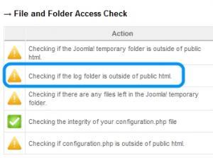 Log folder check