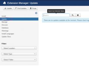 Joomla! Extension Manager Updates