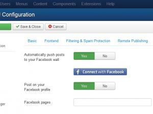RSBlog! Facebook Configuration Screen