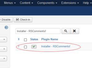 RSComments! Installer