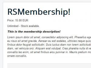 Single Membership Layout