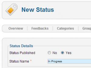 Adding a new status