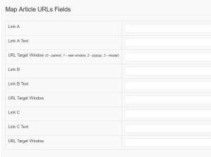 RSForm!Pro Joomla! articles plugin - article URLs fields