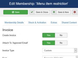 Membership invoice