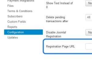 Registration page url (disable Joomla! registration)