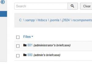 Briefcase folders