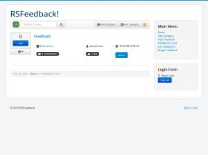 Feedbacks View - Frontend view