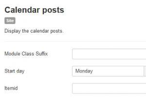 Calendar Posts module