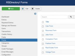 Forms Listing