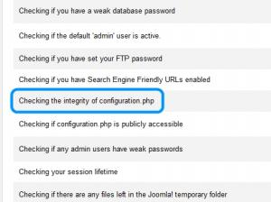 configuration.php integrity check
