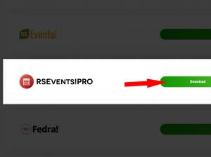 Download RSEvents! Pro from our website