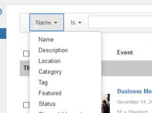 Setup event filters