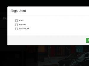 List of used tags