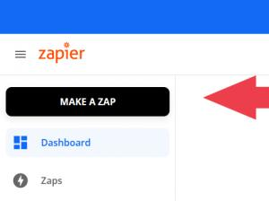 Make a Zap from your account dashboard area