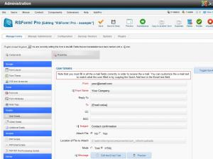 RSForm!Pro Email Configuration
