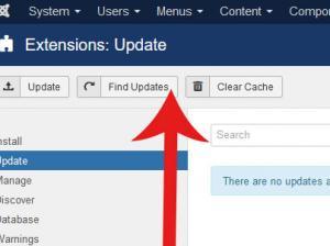 Find Updates Button
