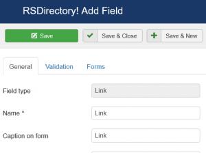 Editing a Link field