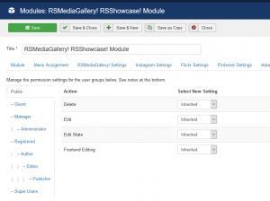 RSShowcase! Permissions