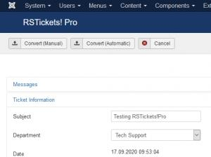 Backend Ticket Layout - Ticket Information tab