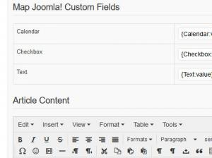 Mapping Joomla! Custom Fields