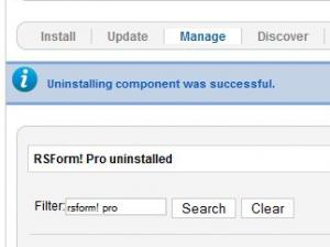 RSForm!Pro uninstall successful