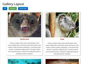 RSMediaGallery! - Gallery Layout menu item