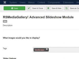 RSMediaGallery! Advanced Slideshow Module Configuration
