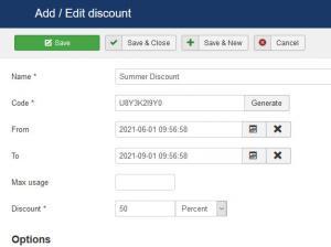 Adding a discount