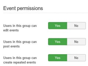 Setting up the group permissions